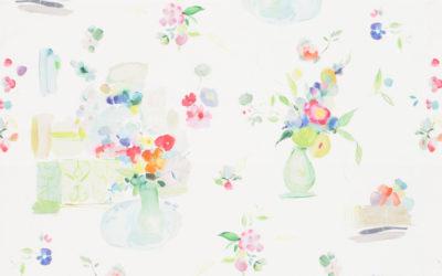 Meubelstof Flower Painting